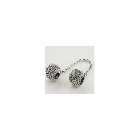 """Stříbrný bezpečnostní řetízek """"Flower Ball"""" 925 Sterlingové stříbro"""