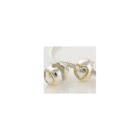 """Zacvakávací korálek """"Gold Heart"""" 925 Sterlingové stříbro"""