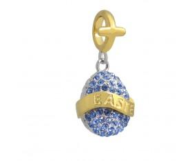 """Přívěsek na náramek ve tvaru velikonočního vajíčka """"Happy Easter"""" 925 Sterlingové stříbro"""