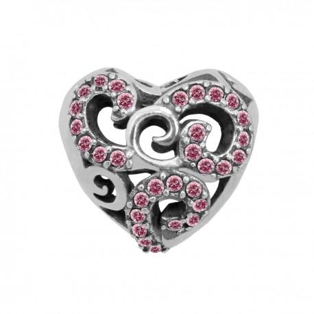 """Přívěsek na náramek """"Blazing heart"""" 925 Sterlingové stříbro"""