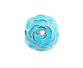 """Přívěsek na náramek """"Blue Rose"""" 925 Sterlingové stříbro"""