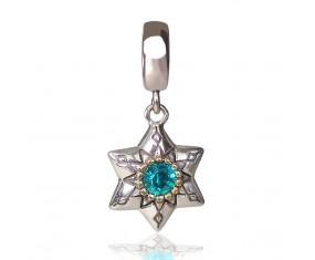 """Přívěsek na náramek """"Blue Star"""" 925 Sterlingové stříbro"""