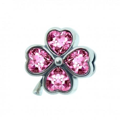 """Přívěsek na náramek """"Pink Flower"""" 925 Sterlingové stříbro"""
