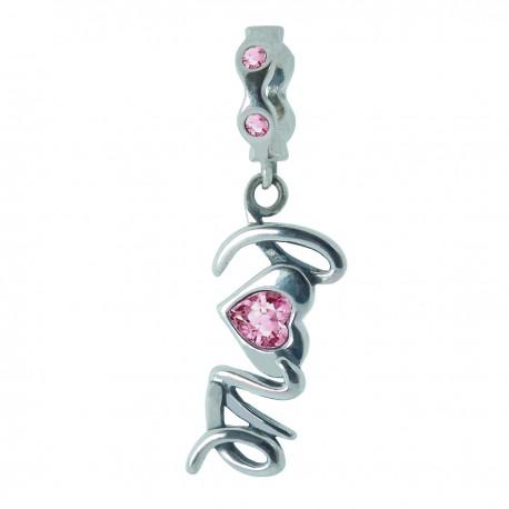 """Přívěsek na náramek """"Pink Love"""" 925 Sterlingové stříbro"""