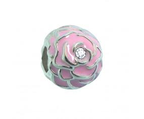 """Přívěsek na náramek """"Pink Rose"""" 925 Sterlingové stříbro"""