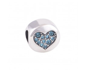 """Přívěsek na náramek """"Blue Heart"""" 925 Sterlingové stříbro"""