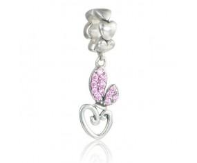"""Přívěsek na náramek """"Rabbits Heart"""" 925 Sterlingové stříbro"""
