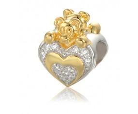 """Přívěsek na náramek """"Kings Heart"""" 925 Sterlingové stříbro"""
