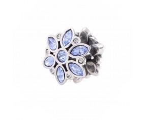 """Přívěsek na náramek """"Blue Flower"""" 925 Sterlingové stříbro"""