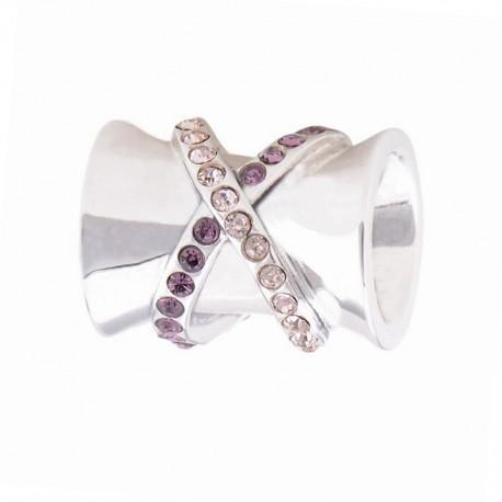 """Přívěsek na náramek """"Pink Share"""" 925 Sterlingové stříbro"""