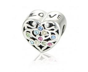 """Přívěsek na náramek """"Lots of Love"""" 925 Sterlingové stříbro"""