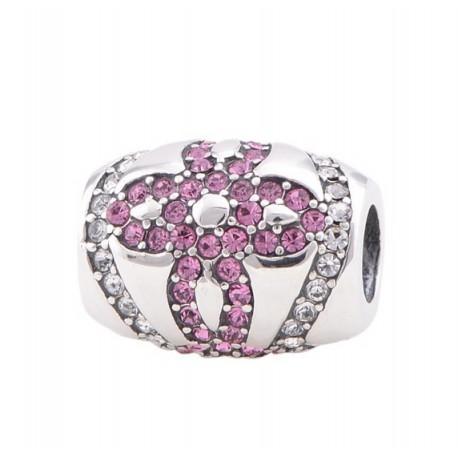 """Přívěsek na náramek """"Pink bloom"""" 925 Sterlingové stříbro"""