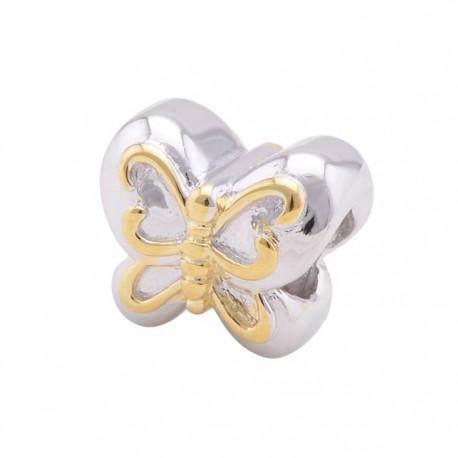 """Přívěsek na náramek """"Gold Butterfly"""" 925 Sterlingové stříbro"""