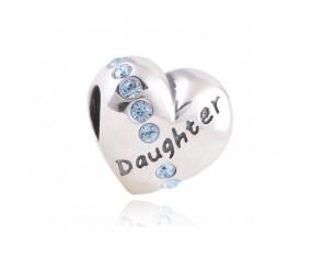 """Přívěsek na náramek """"For my Daughter"""" 925 Sterlingové stříbro"""