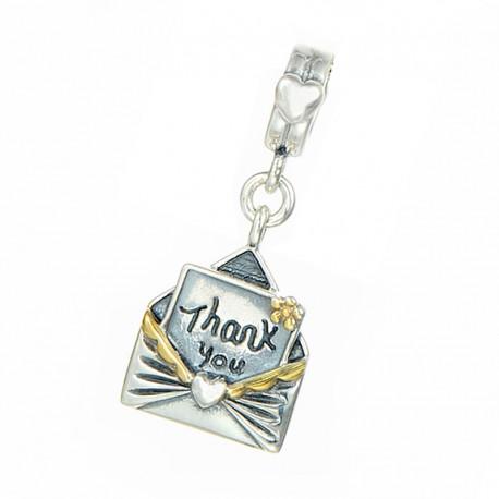 """Přívěsek na náramek """"Thank You Letter"""" 925 Sterlingové stříbro"""
