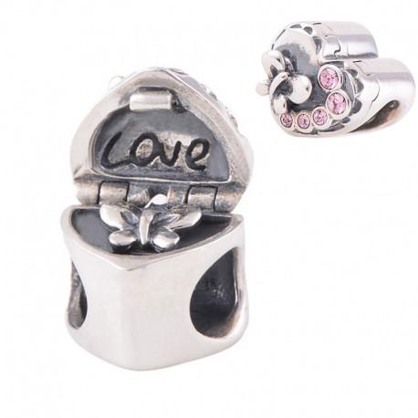 """Přívěsek na náramek """"Mystery Heart"""" 925 Sterlingové stříbro !!!"""