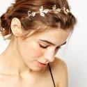 Ozdoba do vlasů - Čelenka se zlatými lístky