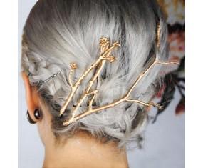 Spony do vlasů - sada zlatých větviček