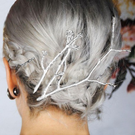 Sponky do vlasů stříbrné barvy-trojkombinace 9547c98f4e