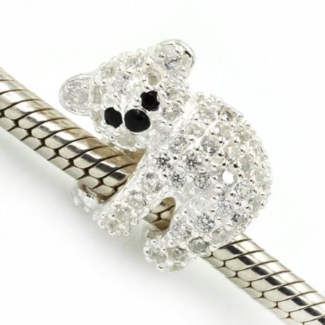"""Přívěsek na náramek """"Cute Bear"""" 925 Sterlingové stříbro"""