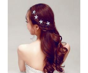 Spona do vlasů - Korálová hvězda