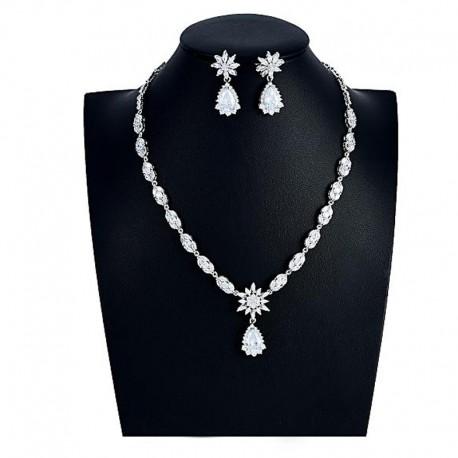 """Svatební souprava """"De La Valiére"""" (náhrdelník, náušnice)"""