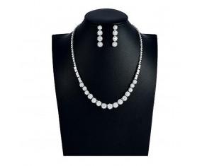 """Svatební souprava """"Sabatier"""" (náhrdelník, náušnice)"""