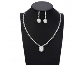 """Svatební souprava """"Du Barry"""" (náhrdelník, náušnice)"""