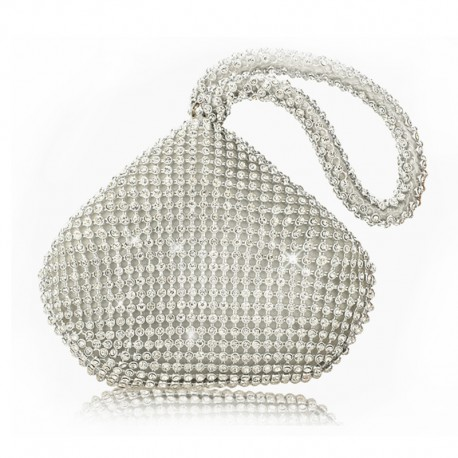 """Stříbrná večerní kabelka """"Small Bag"""""""