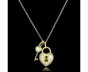 """Řetízek s přívěskem """"Key to Heart"""""""