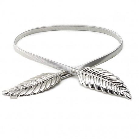 """Stříbrný kovový opasek """"Leaf"""""""