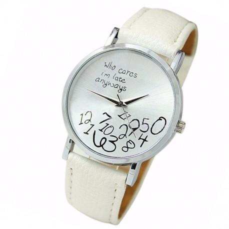 Dámské hodinky Geneva s bílým páskem