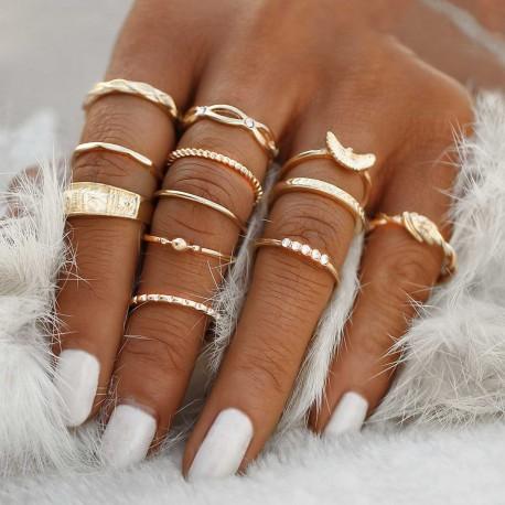 "Sada prstýnků ""Mystic Boho"""