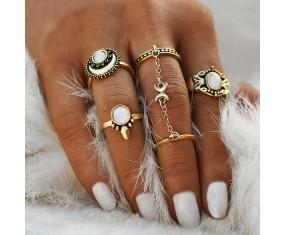 "Sada prstýnků ""Siam Moon gold"""