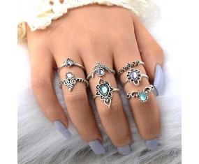 "Sada prstýnků ""Bohemian silver Shine"""