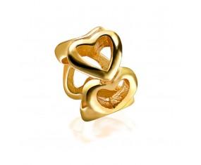 """Přívěsek na náramek """"Heart Round"""" 925 Sterlingové stříbro"""