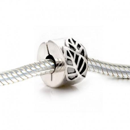"""Zacvakávací korálek """"Leaf"""" 925 Sterlingové stříbro"""