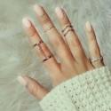 """Sada prstýnků """"Aurora silver"""""""