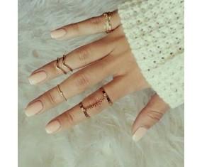 """Sada prstýnků """"Aurora gold"""""""