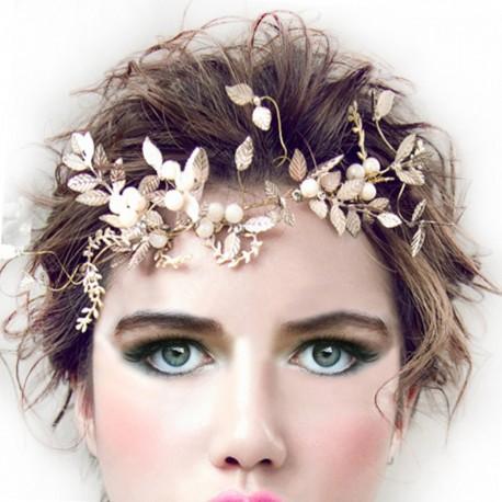 """Ozdoba do vlasů - Zlatá čelenka """"Romantic Shapes"""""""
