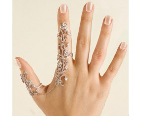 "Sada prstýnků ""Douha Flower"" Silver"
