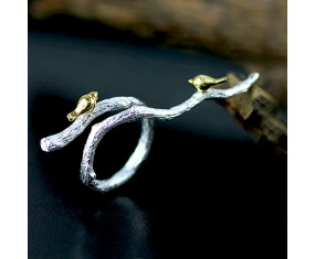 "Stříbrný prsten ""Nightingales Branch"""