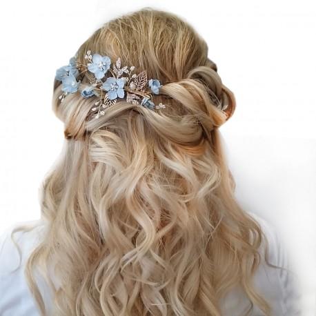 """Svatební ozdoba do vlasů """"Nikko Blue"""""""