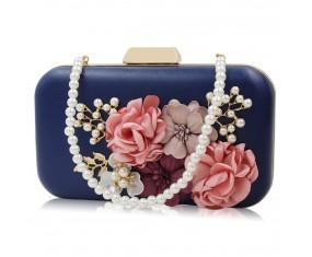 """Společenská kabelka-modrá """"From Roses"""""""