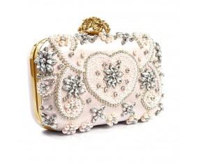 "Společenská kabelka ""Pale Pink Gold"""