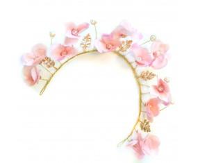 """Ozdoba do vlasů - Čelenka """"Flower Pink"""""""