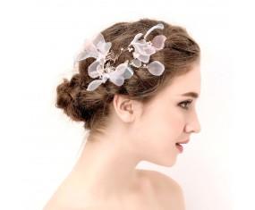 """Svatební ozdoba do vlasů """"Silk Bloom Kiss"""""""