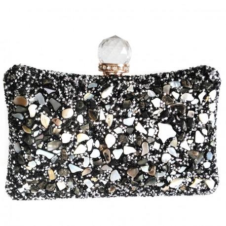 """Luxusní společenská kabelka """"Stone Black"""""""