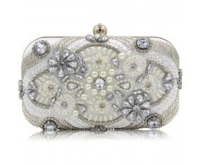 """Malá společenská večerní kabelka """"Silver Diamond"""""""