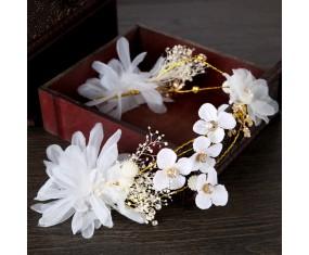 """Svatební čelenka """"White Flower"""""""